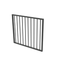 Protector Aluminium 975 x 900mm Flat Top Garden Gate - To Suit Self Closing Hinges - Monument