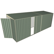 Build-a-Shed 1.5 x 5.2 x 2m Single Sliding Side Door Skillion Shed - Green