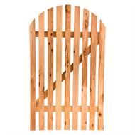 Mr Pickets 900 x 1800mm Arch Cypress Pine Gate