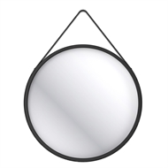 Wet by Home Design 70cm Hanging Round Mirror - Black