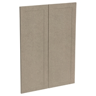 Kaboodle 900mm Raw Board Alpine Medium Pantry Door - 2 Pack