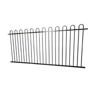 Protector Aluminium 2450 x 900mm Custom Loop Top Boundary And Garden Fence Panel