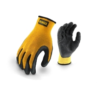 DeWALT Large Textured Rubber Coated Gripper Glove - 3 Pair Value Pack