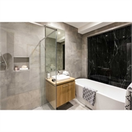 Bellessi 1220 x 3050 x 4mm Motiv Polymer Bathroom Panel - Black Marble