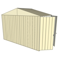 Build-a-Shed 3.0 x 1.5 x 2.3m Gable Double Hinged Side Doors Shed - Cream