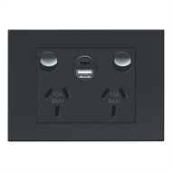 HPM VIVO Double Powerpoint with 2 USB Ports Type A & C