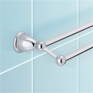 Stylus 760mm Chrome Double Towel Rail Venecia