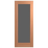 Hume Doors 2040 x 820 x 40mm Joinery Entrance Door - Rich Grey Glass
