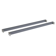 Flexi Storage 435mm Satin Grey Cross Bars And L Connector Kit