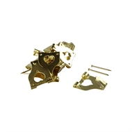 Everhang 10kg Brass Plated Angle Drive Hooks - 15 Pack