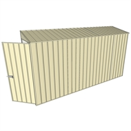 Build-a-Shed 0.8 x 3.7 x 2m Hinged Door Tunnel Shed - Cream
