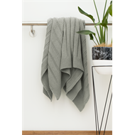 Smart Home Products 127 x 152cm Haze Grey Knitted Throw Rug