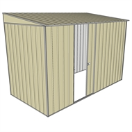 Build-a-Shed 1.5 x 3 x 2m Single Sliding Side Door Skillion Shed - Cream