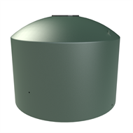 Melro 2200L Round Squat Poly Water Tank - Heritage Green