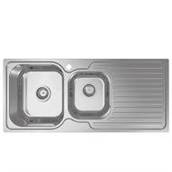 Abey EN 1 & 1/3 Bowl Stainless Steel LH Sink