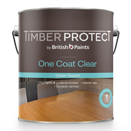 Timber Protect 4L Satin One Coat Clear Water Based Varnish