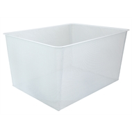 Flexi Storage 285mm White 3 Runner Mesh Basket