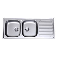 Radiant 1200mm Left Hand Double Bowl Sink