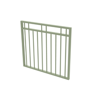 Protector Aluminium 975 x 900mm Double Top Rail 2 Up 2 Down Garden Gate - To Suit Gudgeon Hinges - Pale Eucalypt