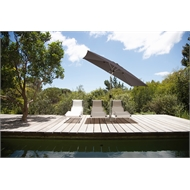 Coolaroo Eucalypt 3m x 2m Graphite Rectangular Market Umbrella