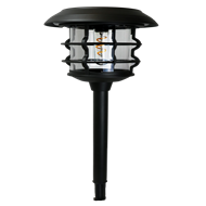 Lectro Glass Cage Spiral Filament LED Solar Path Light