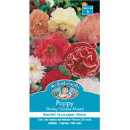 Mr Fothergill's Poppy Shirley Double Mixed Flower Seeds