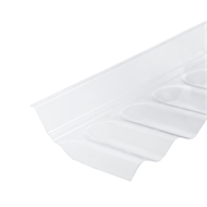 Suntuf 127 x 5 x 15cm Clear Corrugated Polycarbonate Wall Flashing