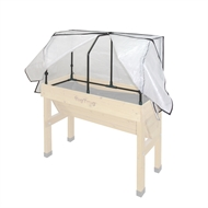 Vegtrug 1m Small Wall Hugger Frame And PE Greenhouse Cover