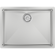 Abey 590 x 445mm Piazza Single Stainless Steel Square Sink