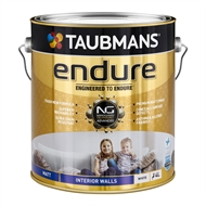 Taubmans Endure 4L Matt White Interior Wall Paint
