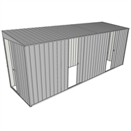 Build-a-Shed 1.5 x 5.2 x 2m Sliding Door Tunnel Shed with 2 Sliding Side Doors - Zinc
