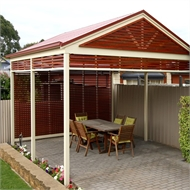 Softwoods 5.4 x 4.9m Colorbond Patio Gable Roof Kit