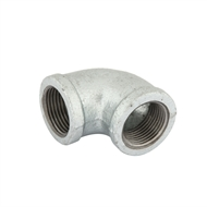 Kinetic 20mm Female - Female Galvanised Elbow