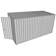 Build-a-Shed 1.5 x 3.7 x 2m Hinged Door Tunnel Shed - Zinc