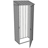 Build-A-Shed 0.4 x 0.8m Zinc Single Hinged Door Garden Locker