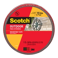Scotch 2.5cm x 11.4m Outdoor Double Sided Mounting Tape