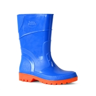 Bata Size 11 Cobalt/Orange Kids Bubblegummer PVC Gumboot