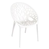 Tusk Living Arc White Cafe Chair