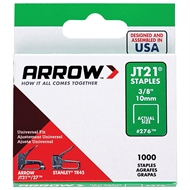Arrow 10mm JT21 Staples - 1000 Pack