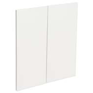 Kaboodle Gloss White Modern Corner Base Cabinet Doors - 2 Pack