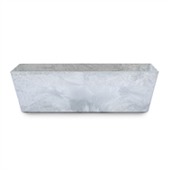 Tuscan Path 55 x 17 x 17cm White Stone Art Ella Balcony Pot