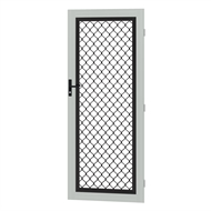 Protector Aluminium 808-848 x 2030-2070mm Adjustable Grille Security Door - Shale Grey