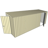 Build-a-Shed 1.5 x 5.2 x 2m Hinged Door Tunnel Shed with Hinged Side Door - Cream