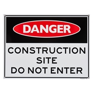 Sandleford 450 x 600mm Construction Site Plastic Sign