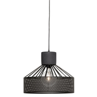 Brilliant Lighting Slater Mesh Concrete Pendant Black