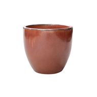 Northcote Pottery 23cm Primo Mod Egg Glazed Pot - Copper