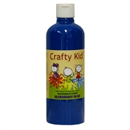 Crafty Kid 500ml Blueberry Blue Washable Paint