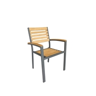 Mimosa Aluminium / Timber Naples Chair