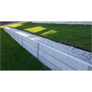 Ridgi 150mm x 50mm x 1.5m Smooth Grey Reinforced Concrete Sleeper