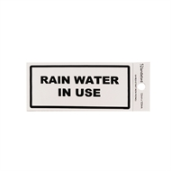 Sandleford Rain Water In Use Self Adhesive Sign